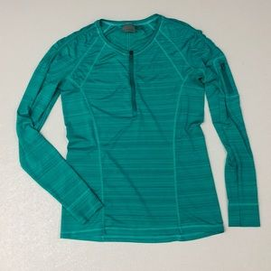 Athleta zip up long sleeve workout athletic too